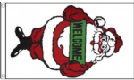 Santa Welcome Large Christmas Flag - 5' x 3'.